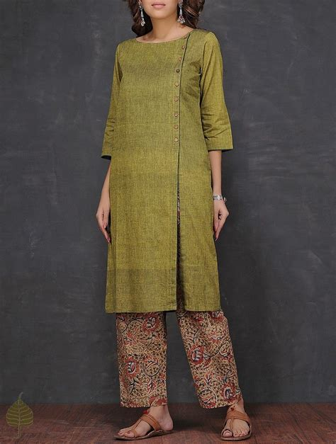 boat neck indian dress buy olive boat neck mangalgiri cotton kurta by jaypore