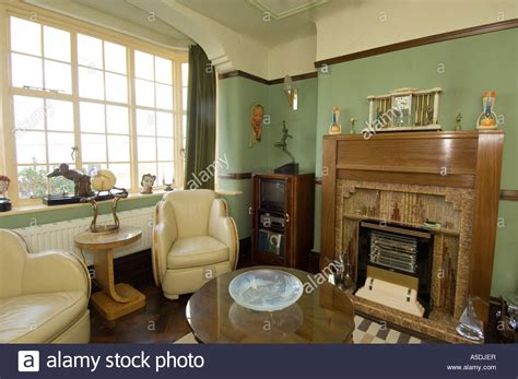 1930 homes interior refurbished deco 1930 s house interior lounge living room stock photo royalty free image
