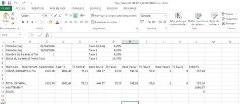 le format csv ximi aide en ligne la taxe sur les salaires