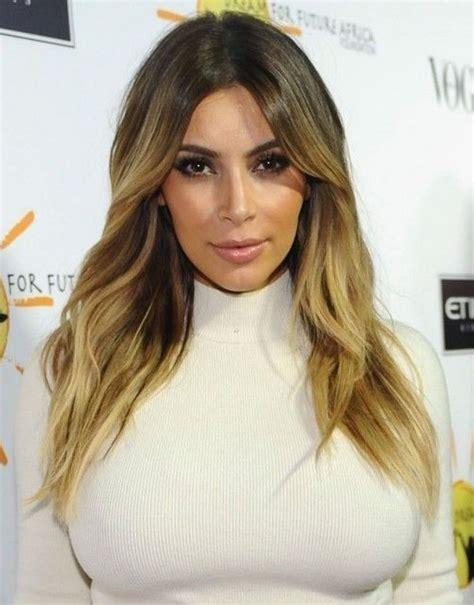 hairstyles for long hair kim kardashian kim kardashian hairstyles 2014 center parted hairstyles