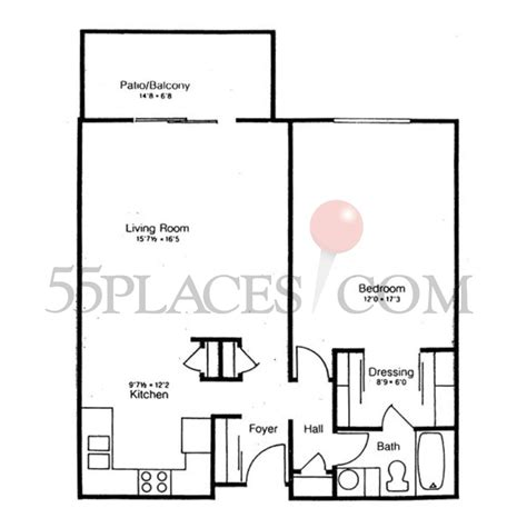 heather gardens floor plans 865 floorplan 865 sq ft heather gardens 55places com