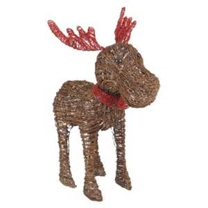 outdoor lighted moose 33 lighted rattan moose decoration outdoor decor figurine
