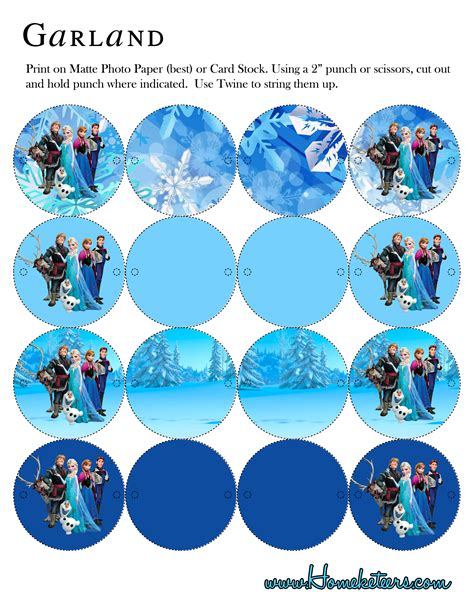 printable frozen garland frozen birthday party printable add on kit