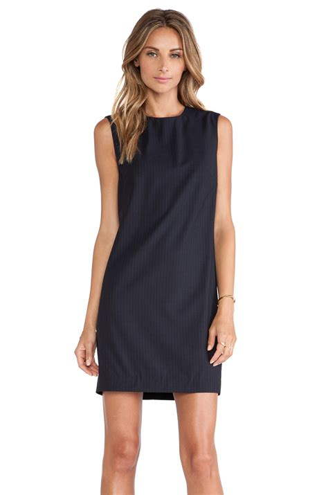 Fashion Perspective Model Debate Its Not All Fashions Fault Second City Style Fashion by Theory Audrice Dress In Blue Navy Lyst