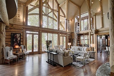 luxury log home interiors luxury mountain log homes interiorcustom luxury mountain