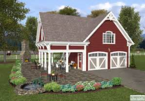 Garage Plans With Porch Garage Plan With Exterior Porch The House Designers