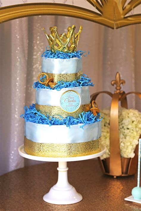 Prince Baby Shower Cake Ideas by Kara S Ideas Royal Prince Baby Shower Kara S