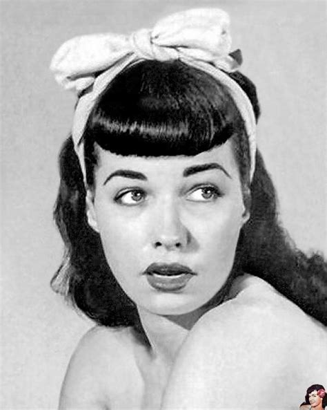 bettie page hairstyle bettie page bangs bettiepage