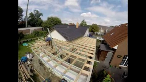 Garage Flachdach Holzkonstruktion by Flachdach Errichten Auf Meiner Garage Zeitraffer