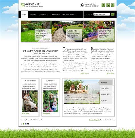 jm garden art premium joomla art and photography template