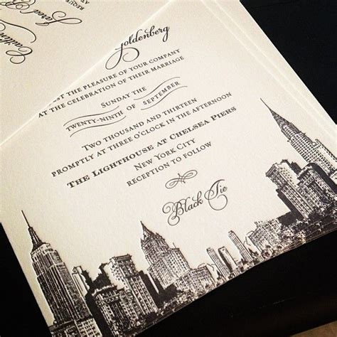 new york city skyline wedding invitations pin by margot hallac on atelier isabey collection