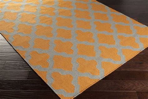 Grey And Orange Rug by Artistic Weavers York Awhd1008 Orange Grey Area Rug