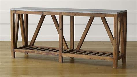 Bluestone console table crate and barrel