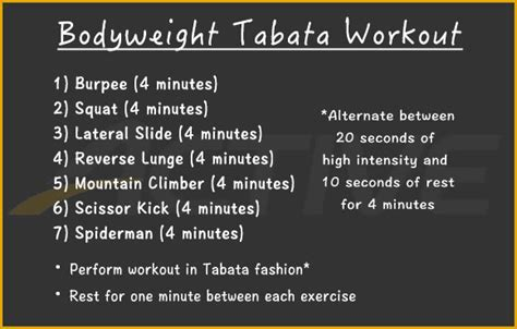 best tabata 30 minute bodyweight tabata workout active