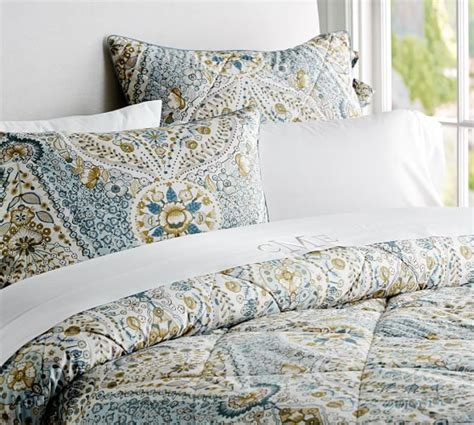Pottery Barn Comforter by Angie Floral Reversible Comforter Sham Blue Pottery Barn