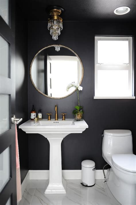 black bathroom decorating ideas best 25 powder room design ideas on modern