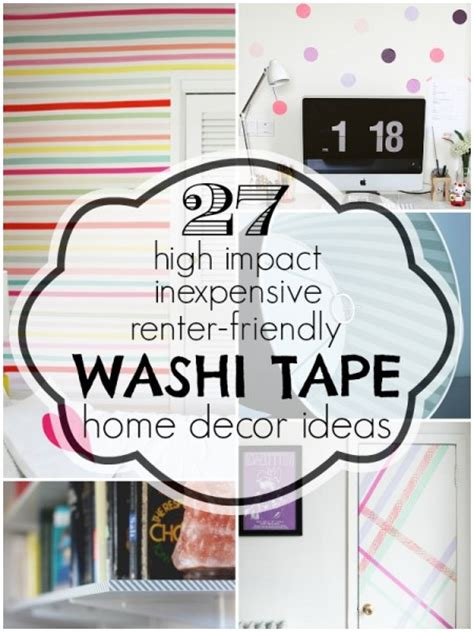 washi tape home decor washi tape home decor ideas remodelaholic