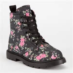Simply petals girls combat boots 233651800 shoes