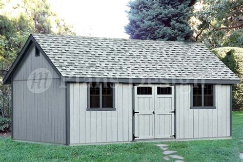 reverse gable backyard storage shed plans