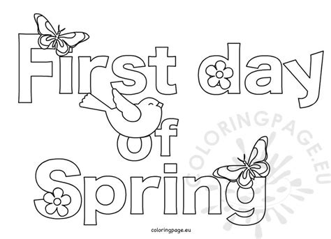 first day of spring march 20 coloring page