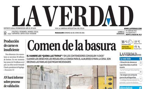 Diario La Verdad | diario la verdad no circul 243 el domingo 26 de junio por