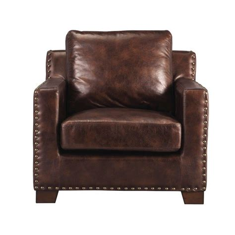 home decorators accent chairs home decorators collection garrison brown bonded leather