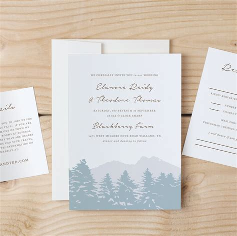 Instant Download Printable Wedding Invitation Template Smoky Mountain Word Or Pages Mac Or Invitation Template Mac