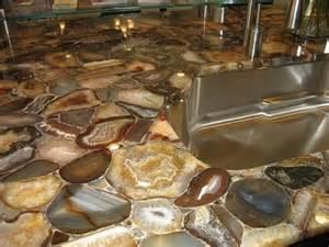 gem and precious metal countertops