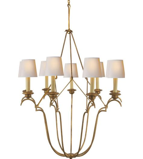 Casual Chandelier Visual Comfort Chc 1403gi Np E F Chapman Casual Belvedere Chandelier In Gilded Iron With