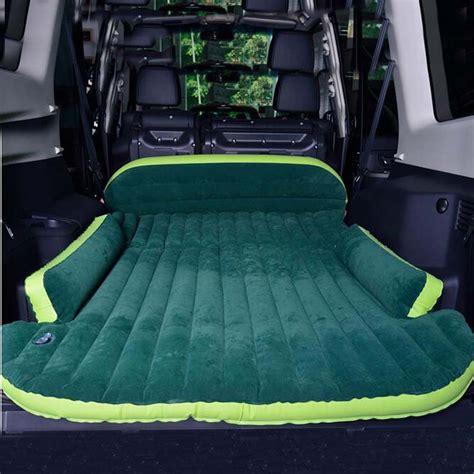 suv inflatable mattress  air pump travel camping moisture proof pad car  seat sleeping