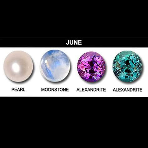 color for june june birthstones pearl alexandrite and moonstone