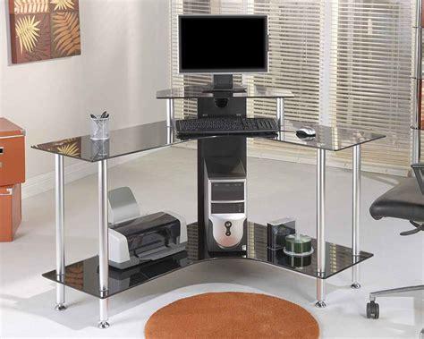 black glass corner desk black corner computer desks office furniture