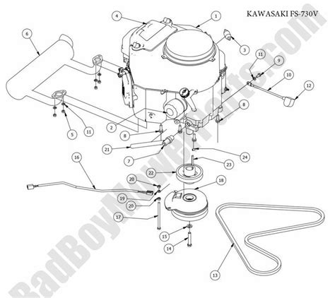 bad boy parts lookup  czt elite kawasaki engine fs