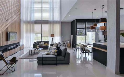 wils  residence living room   double volume wood