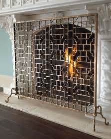 single panel fireplace screens