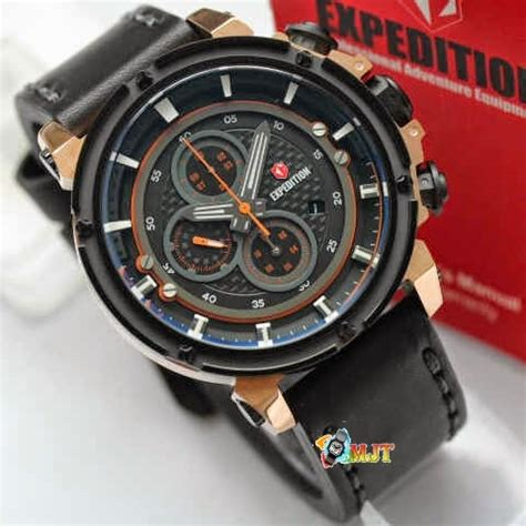 Jam Tangan Expedition E6381 Rantai Gold jam tangan expedition e6649 chronograph leather original