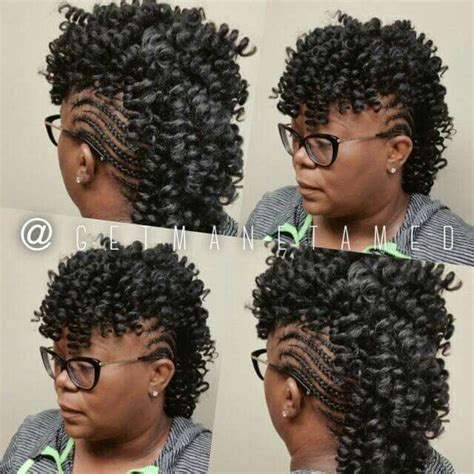 mohawk hairstyles with crochet hair 33 best images about crochet braids on pinterest follow