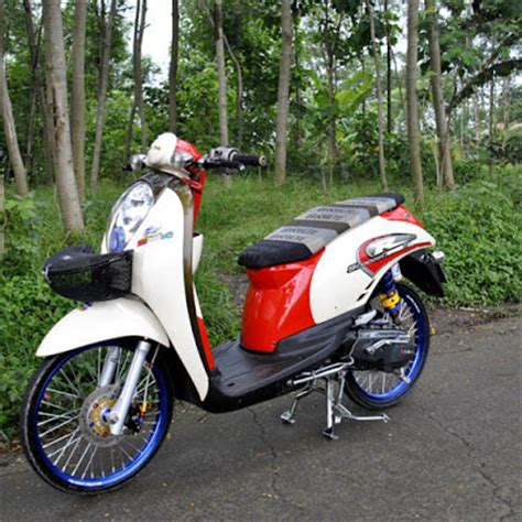 Keranjang Scoopy finna rz modifikasi honda scoopy racing look style