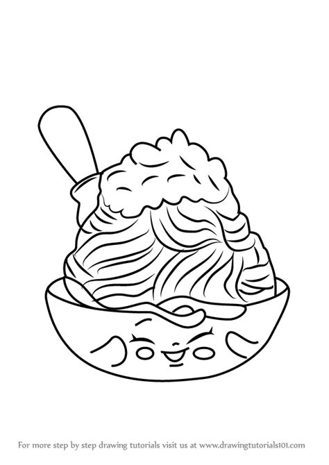 how to color pasta learn how to draw netti spaghetti from shopkins shopkins