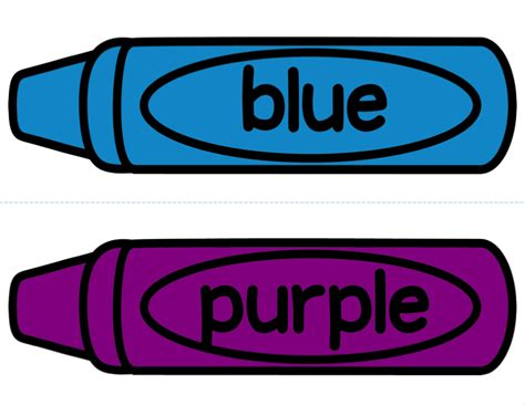 Free Color Crayon Name Card Template by Crayon Color Cards Updated