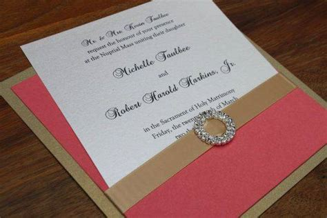 coral and gold wedding invitations 2014 wedding color palette trend coral and gold