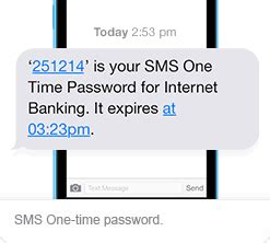 mobile one time password how we protect you teachers bank