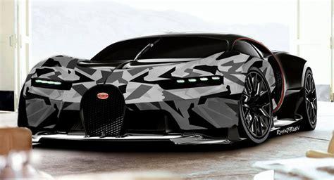 camo bugatti bugatti chiron gets a digital arctic wrap