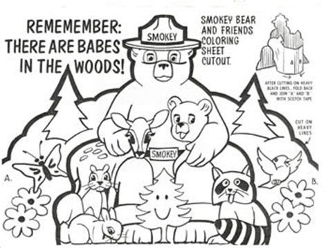 coloring page of smokey the bear emnrd forestry division
