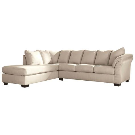 Sleeper Sofa With Chaise by Signature Design Darcy Contemporary