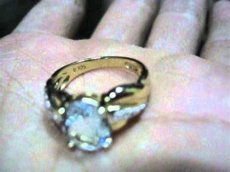 cincin silver 925 lapis emas berlian blue topaz