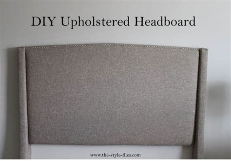 Diy Upholstered Headboard And Footboard by Diy Upholstered Headboard The Style Files