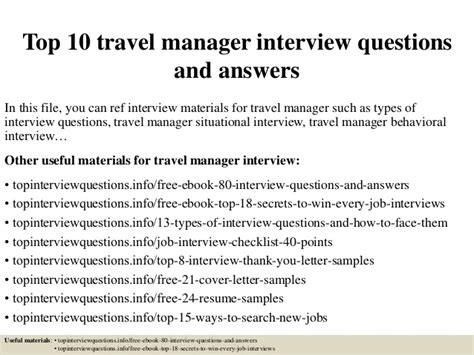 top  travel manager interview questions  answers