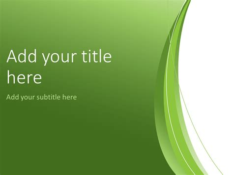 Green Abstract Powerpoint Template Presentationgo Com Green Powerpoint Templates Free