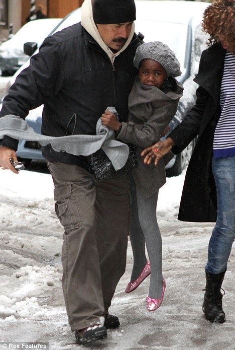 madonnas tearful daughter mercy james doesnt  pleased  snowy  york daily mail